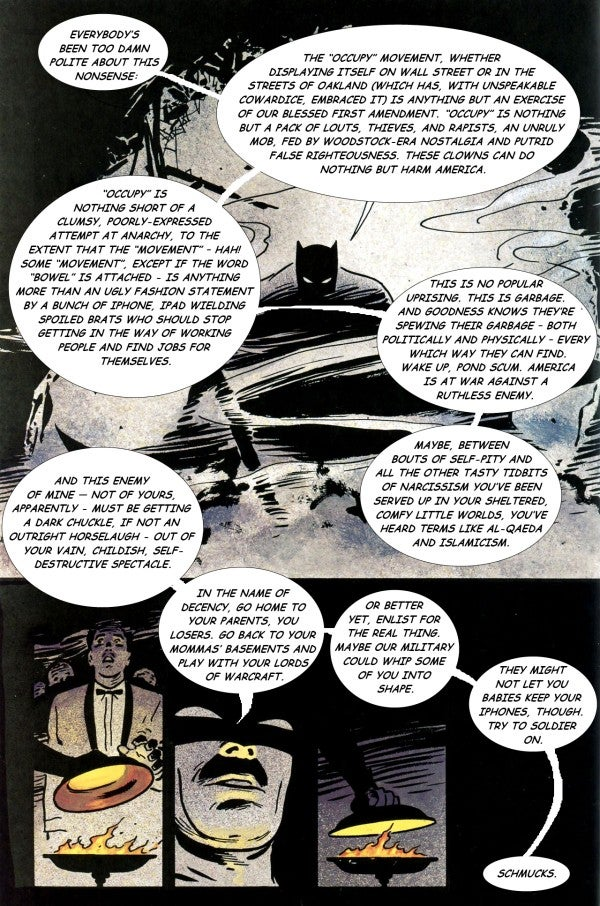 Frank Miller slams Occupy Wall Street, becomes a parody of himself