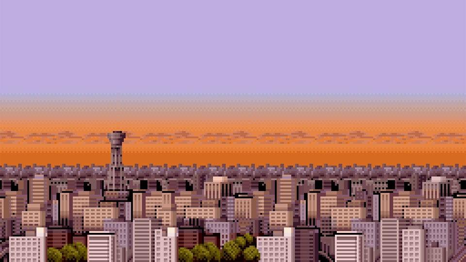 8 Bit City Background