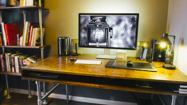 The DIY, Clutter-Free Photo Editing Workspace