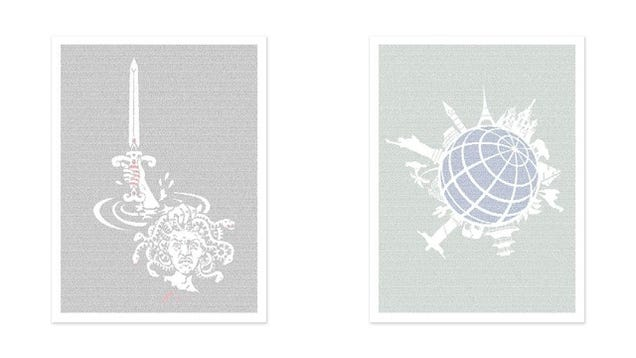 These Graphic Prints Conceal The Entire Text of Your Favorite Books