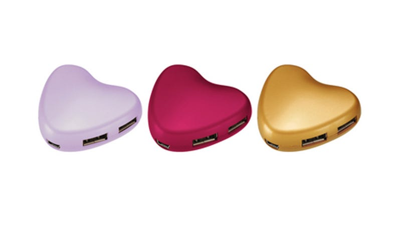 A Heart-Shaped USB Hub Is Full of Love and Ports