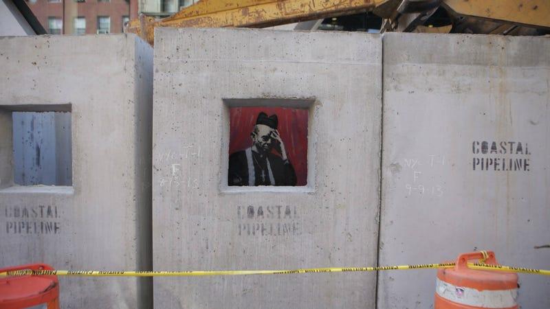 """Banksy's """"Concrete Confessional"""""""