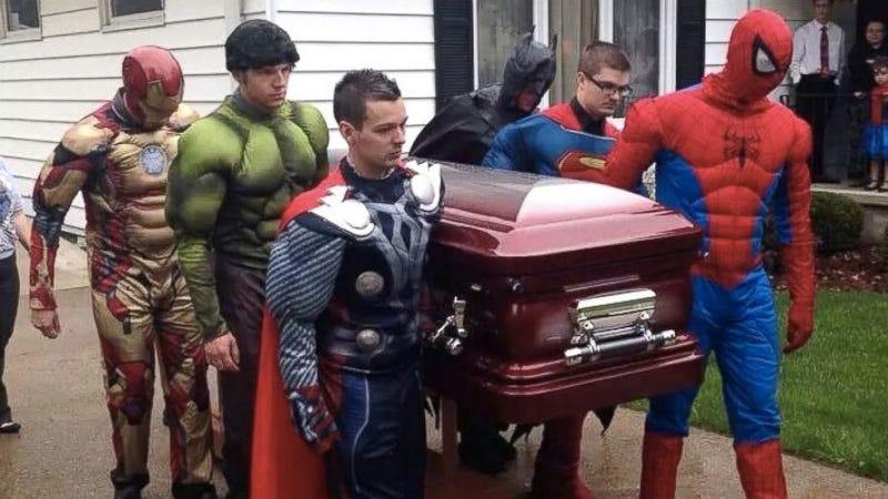 5-Year-Old Gets a Superhero Funeral After Battle with Brain Cancer