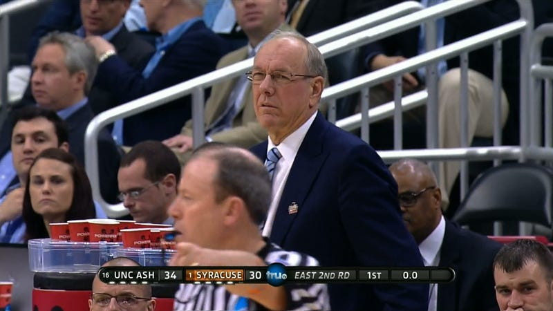 Jim Boeheim And Syracuse Are Losing To A 16 Seed At Halftime