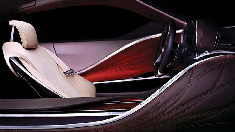 This is the Lexus Detroit Auto Show concept from the inside