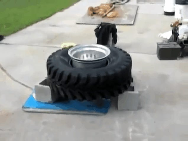 How To Mount A Tire With An Ether Explosion