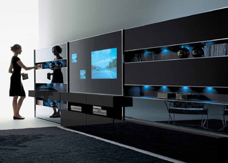 MisuraEmme Wall Combines Home Entertainment With Booze