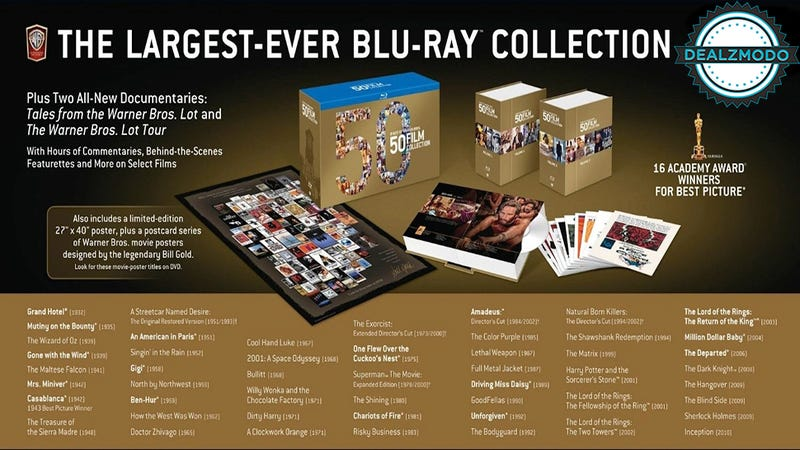 50 Of The Best Movies Ever Are Your Blu-ray+Digital Deal Of The Day