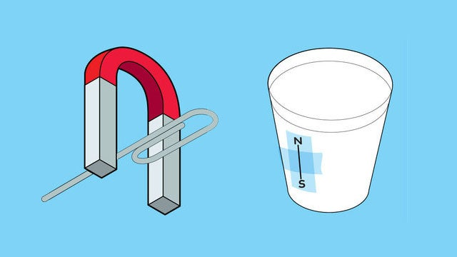 Guide Yourself Home with a Disposable Cup, a Paperclip, and a Magnet
