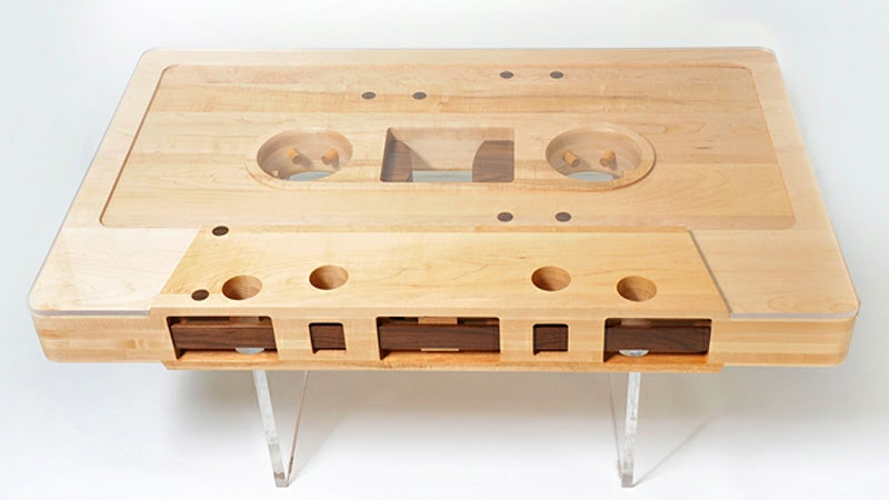 The Mixtape Will Live Forever Through This Retro-riffic Coffee Table