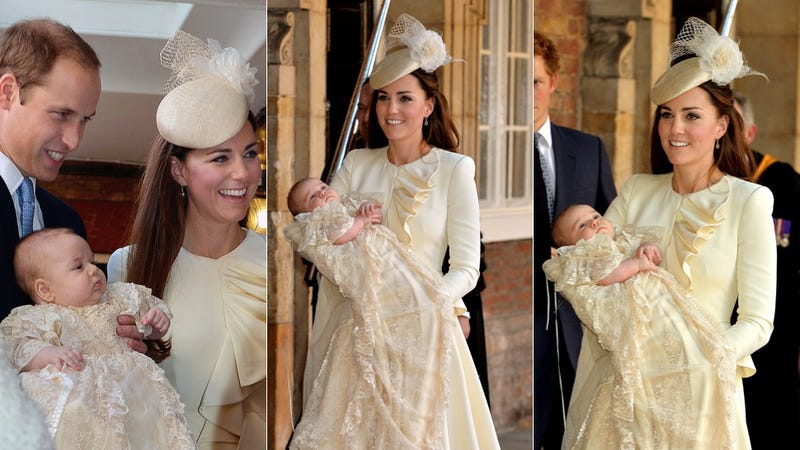 Duchess Kate and Prince George Get All Dressed Up (Emphasis on Dress)