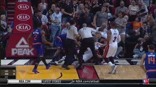 Hassan Whiteside Tackles Alex Len To The Floor In A Real NBA Fight