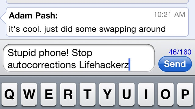 Avoid Autocorrect Mistakes by Typing an Extra Letter on iOS