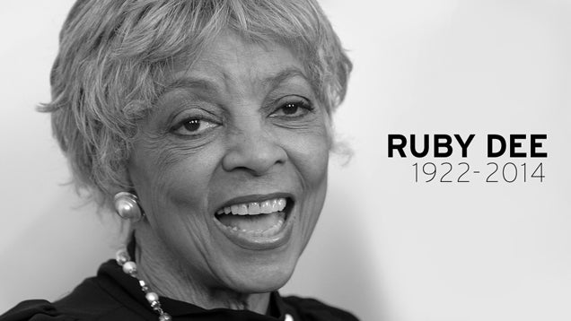 Screen Legend and Activist Ruby Dee Is Dead at 91