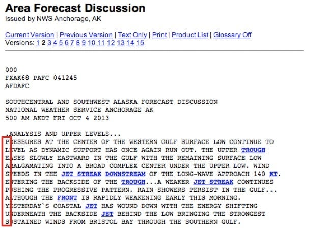 National Weather Service Office Has a Secret Message for Congress