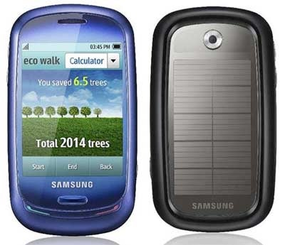 Samsung Blue Earth Phone: Solar Powered and Made from Water Bottes