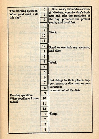 How Does Your Daily Routine Compare to Ben Franklin's?