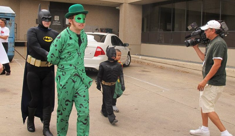 City Helps Fulfill Sick Kid's Dream Of Becoming Batman For A Day