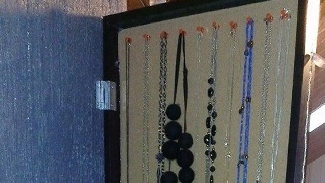 Add Hidden Jewelry Storage to an IKEA Wall Mirror