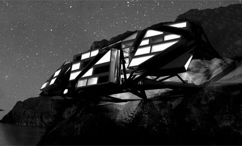 A Futuristic Hotel That Can Only Be Reached By Bicycle