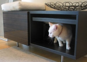 Hidden Entryway Cat Litter Box