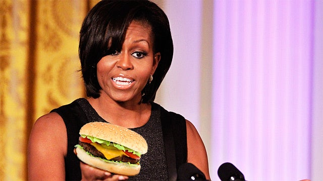 Outrage in Washington: Michelle Obama Ate a Burger Yesterday