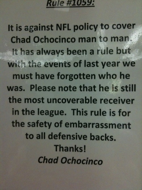 Sometimes I Love Ochocinco So Much It Hurts