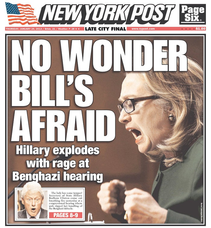 Here's the New York Post's Sexist Hillary Clinton Cover