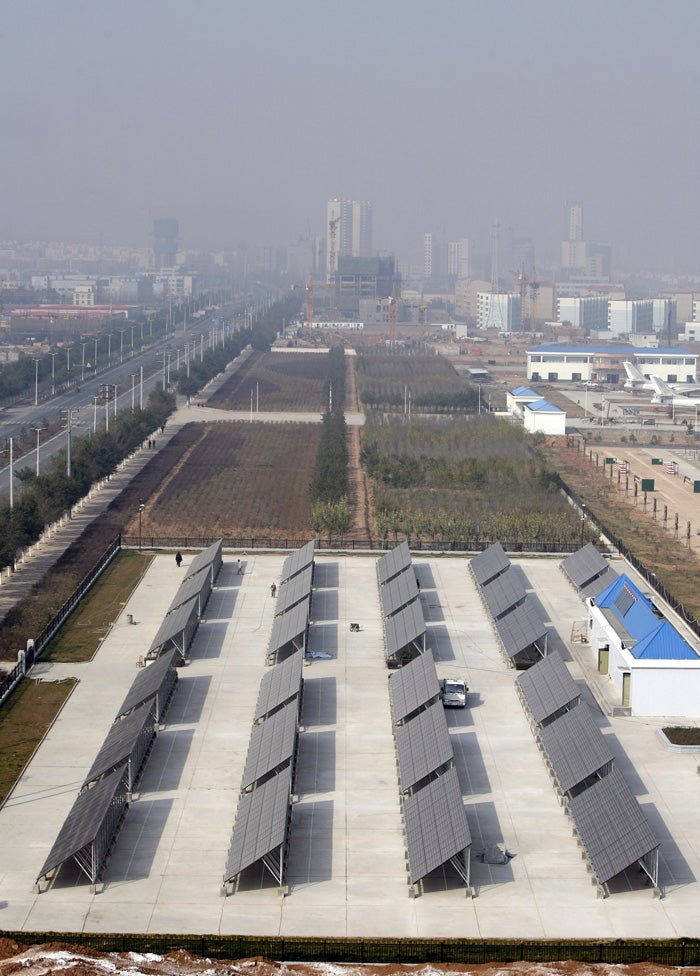 Photon Farming in the Vast Solar Fields of Northern China