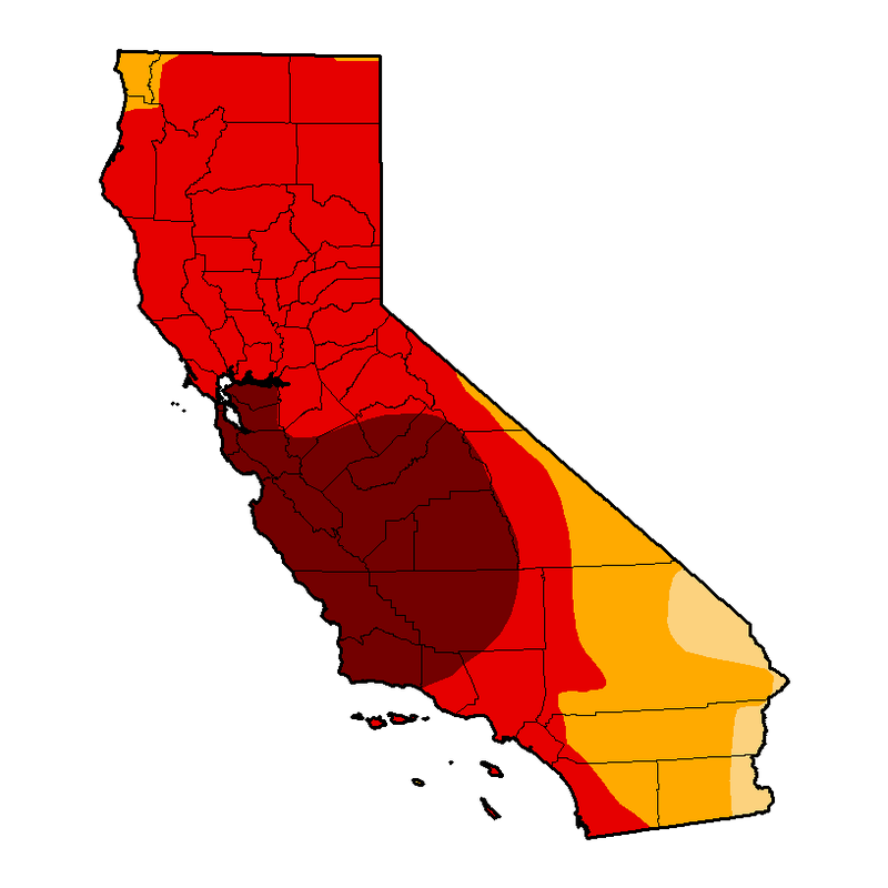 Escalating Drought in California