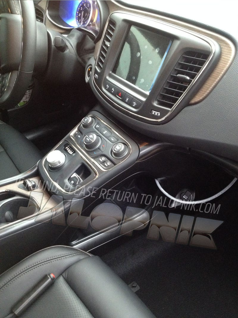 Is This The Interior Of The 2015 Chrysler 200?