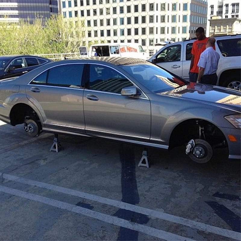 The Warriors Hazed Rookie Festus Ezeli By Removing His Car's Tires