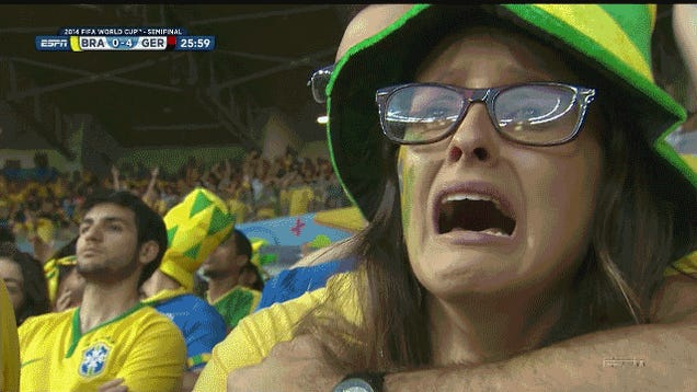 Germany Have A 5-0 Lead Over Brazil