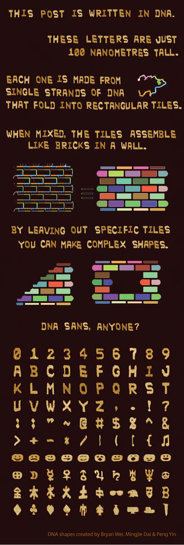 Harvard Scientists Make Graphic Designers Look Lazy by Using DNA to Create a New Font