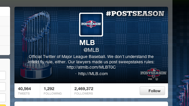 "MLB Removed The Phrase ""We Don't Understand The Infield Fly Rule"" From Its Twitter Profile"