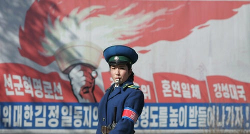 Pyongyang Traffic Girls: Traffic Cop Photos
