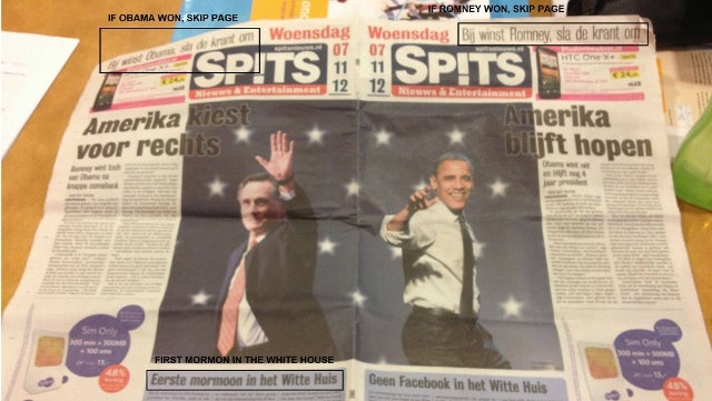 Newspaper Avoids 'Dewey Defeats Truman' Gaffe by Publishing Two Front Pages — One for Each Potential Election Outcome