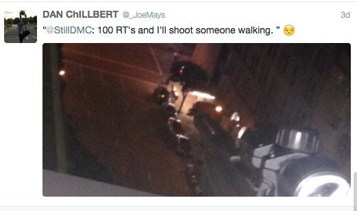 Man Arrested After Threatening to Shoot Someone for 100 Retweets
