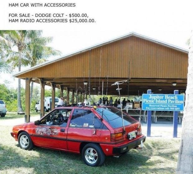 Ham Radio Car: Sale Photos