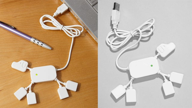 No Need to Scrabble and Dig Around For Spare USB Ports When the USB Hub Dog's Around