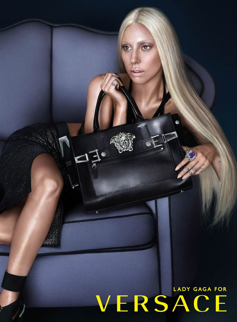 What Lady Gaga's Versace Ads Look Like Without Photoshop