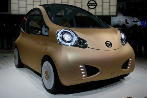 Nissan NuVu Concept, Live And In The Bubbly, Micra-Like Metallic Skin
