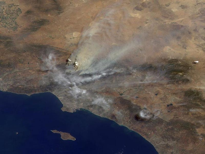 LA Smoldering from Space