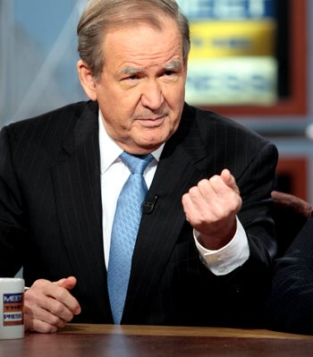 Pat Buchanan Peruses White Nationalist Website for Column Ideas