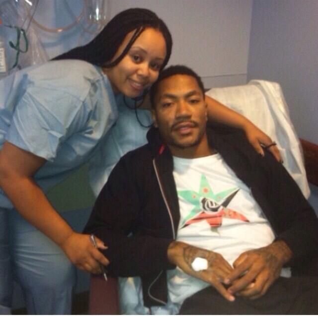 Here's Sad Derrick Rose's First Sad Post-Surgery Photo