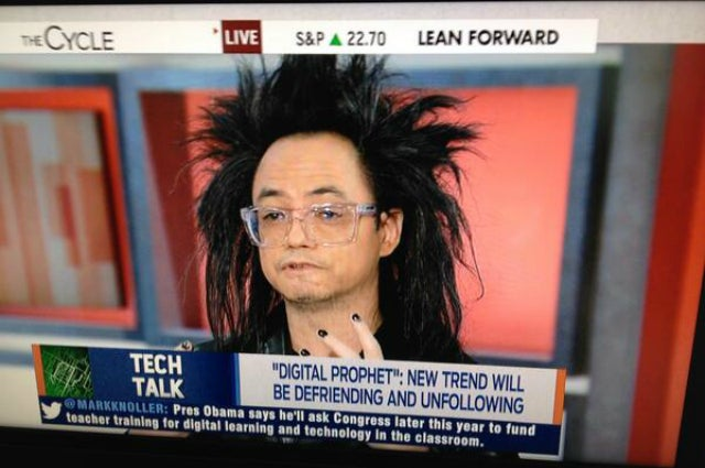 This Man Is Representing AOL on Live Television