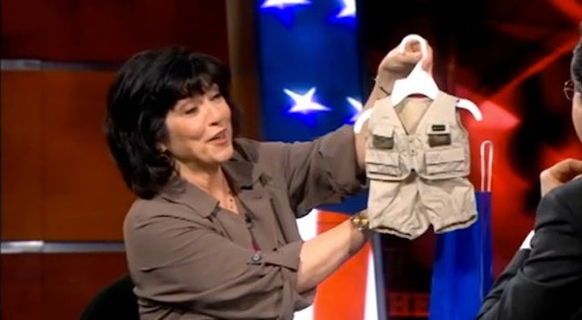 Christiane Amanpour Stops by Colbert With a Gift for Christiane Aman-purr