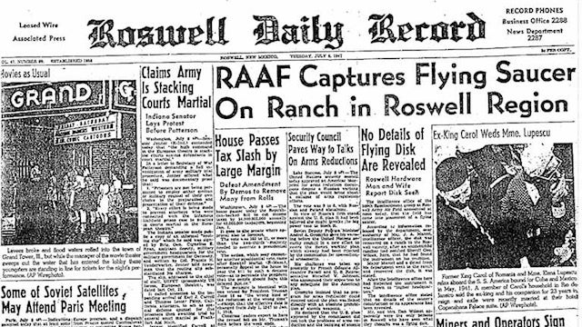 65 Years Ago a UFO Probably Maybe Possibly Crashed on Earth at Roswell