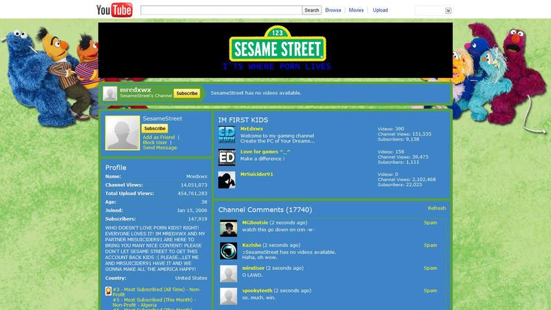 Sesame Street Hacked With XXX Content