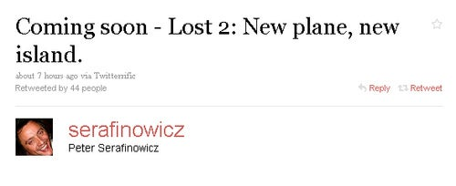 Today's Celebrity Twitter Chatter: Let the LOST Wank Begin!